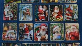 Магниты-открытки Санта и его помощники