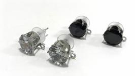 Основа для серег-гвоздиков с кристаллом