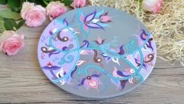 Декоративная тарелка ′Лавандовая Фантазия′