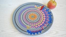 Декоративная тарелка ′Мандала′