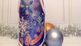 Фартушек для украшения бутылки ′С Рождеством!′