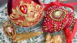 Новогодние елочные украшения шар подвеска