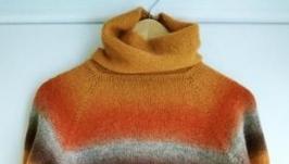 Свитер с цветовыми переходами из шерсти ′кауни′