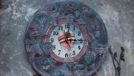 Часы настенные воздушный шар