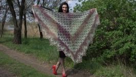 Шикарная шаль Харуни из шерстяной пряжи Кауни