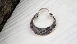 Сережка чоловіча козацька Громове колесо зі срібла