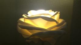 Cветильник роза из изолона