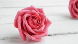 Заколка для волос с розой, Цветы в прическу для девушки, Подарок девочке