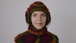 Комплект вязаный, шапочка и шарф