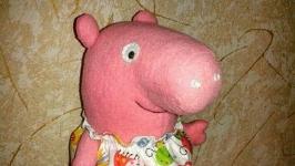Свинка Пеппа Ручная работа Свинка на заказ Символ года