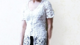 Вязаная блуза.