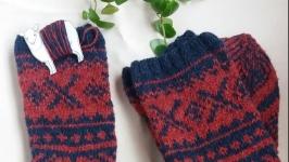 Шерстяні носки  жаккардом