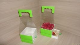 Коробка для цветов с выдвижным ящичком для подарка Зеленый