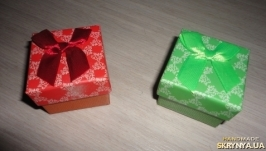 Подарочная упаковка с бантом. Коробка набор 4 шт