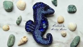 Брошь ′Морской конек′