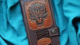 Кожаный кошелек ′ТИГР′