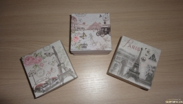 Подарочная упаковка 9 на 9 см. Коробка набор Утро в Париже 3 шт