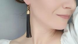 Кожаные серьги-кисти ′Lady′