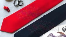 Мужской галстук ручной работы с любовью любимым