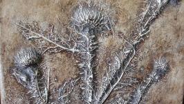 Рельефное панно Чертополох