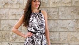 Летнее платье ′ Белые розы в сумерках′