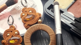 Сутажні сережки ′Мед′