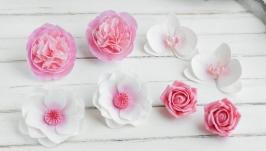 Подарочный набор украшений для девочки Розовые цветы