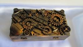 Авторская купюрница в стиле Стимпанк (Steampunk),шкатулка для денег