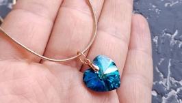 Позолота кулон на ланцюжку з кристалом Swarovski подарунок день закоханих
