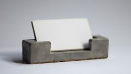Візитниця з бетону,бетонная визитница
