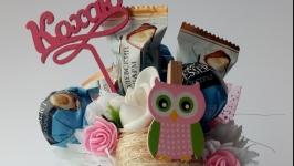 Букети топiарii з цукерками на День всiх закоханих