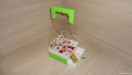 Коробка для бутонов с выдвижным ящичком для подарка Зеленый