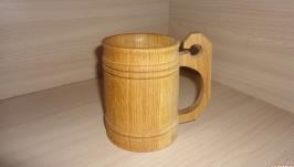 Кружка деревянная для декора