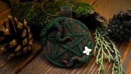 Кулон Викканский пентакль лесное украшение ведьмы