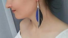 Кожаные серьги ′Rozalina′