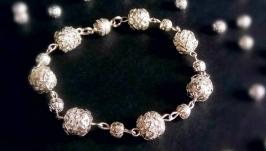 Красивый браслет под серебро Браслет Свадебный Подарок