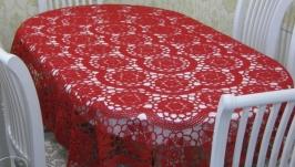 Скатерть Красотка на овальный стол