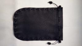 Кожаный мешочек домик для Таро