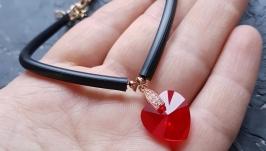 Колір на вибір! Браслет з кристалом Swarovski серце подарунок на 8 березня