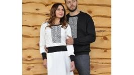 Світшот чоловічий та жіноча сукня з вишивкою