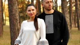 Світшот чоловічий та жіноча трикотажна блуза з вишивкою