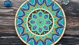тарілка декоративна ′Бірюзовий рай′