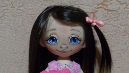 Кукла авторская ручной работы Кнопушка