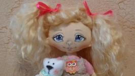 Кукла игровая ручной работы Маленькая модница