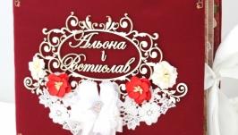 Весільний фотоальбом ручної роботи , подарунок на весілля
