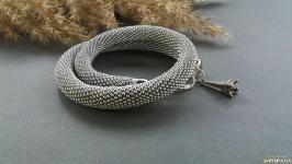 Жгут ′Серебристый′из чешского бисера