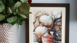 Картина ′Три Амфори′ Акварель