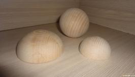 Половина шара (полусфера) деревянная 7 см