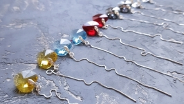 Колір на вибір! Сережки з Swarovski кристалами подарок 8 марта