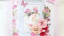 Большая женская открытка , жіноча листівка з 8 березня
